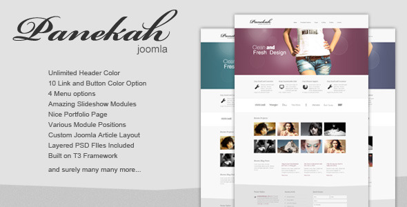 Panekah - Creative Photography Joomla Template