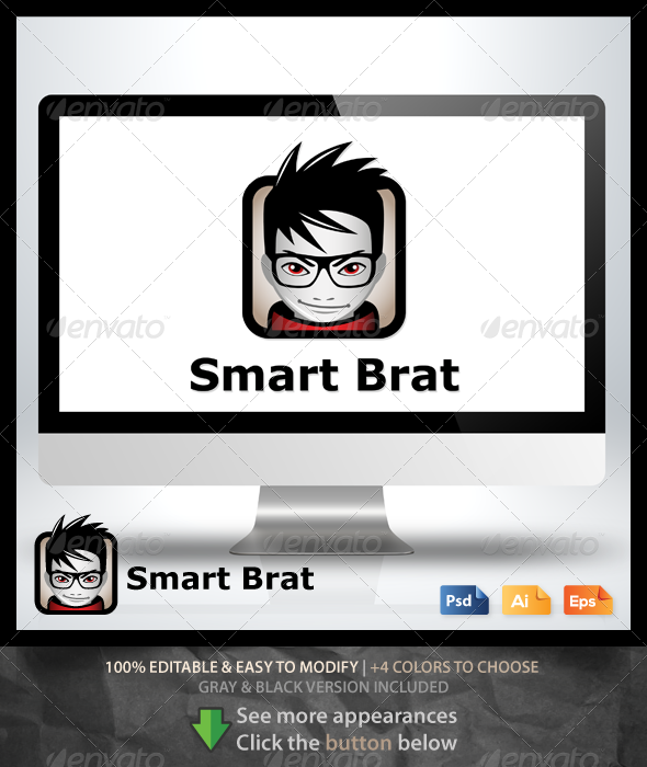 GraphicRiver Smart Brat Logo 6570274