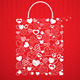 Shopping Bag for Valentines Day - GraphicRiver Item for Sale