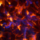 Glowing ember with blue flames in a fireplace - PhotoDune Item for Sale