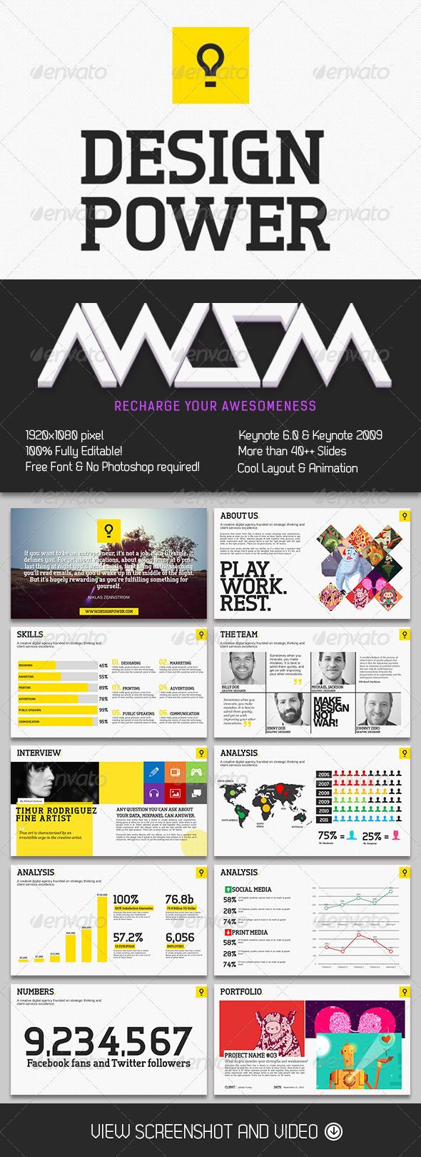 GraphicRiver Design Power Keynote Template 6572178