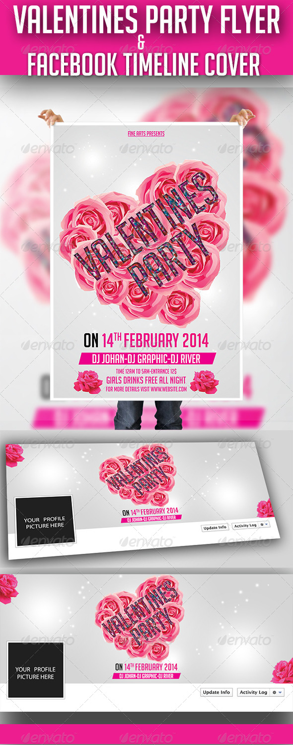 GraphicRiver Valentine Party Flyer 6572880