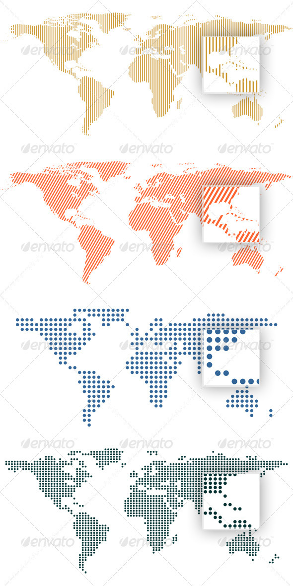 GraphicRiver World Map by Dots and Lines 658223