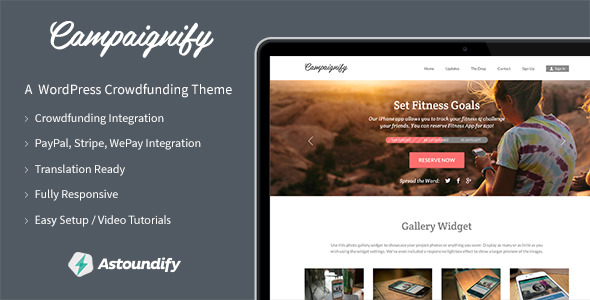Campaignify - Crowdfunding WordPress Theme