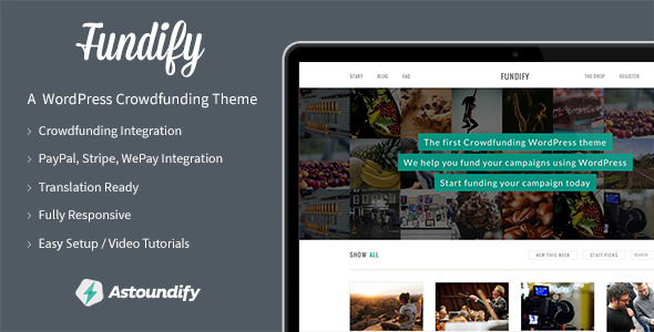 Fundify - The WordPress Crowdfunding Theme