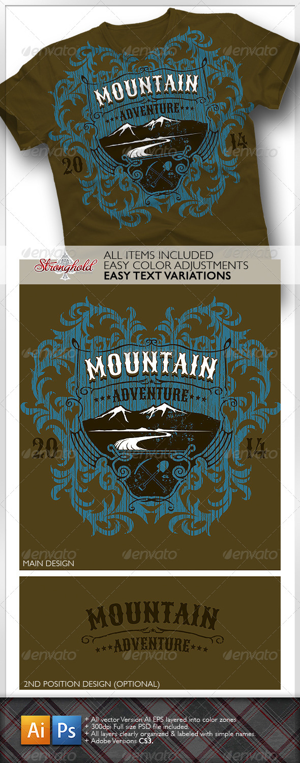 GraphicRiver Mountain Adventure T-shirt Event Template 6573120