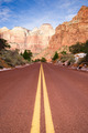 Highway 9 Zion Park Blvd Road Buttes Altar of Sacrifice - PhotoDune Item for Sale