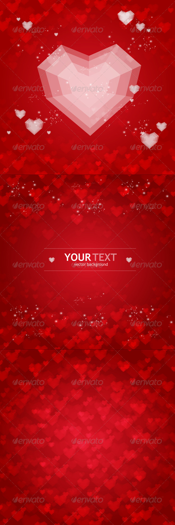 GraphicRiver Backgrounds Set from Red Hearts 6574565