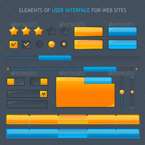 GraphicRiver Set of Vector UI 6574832