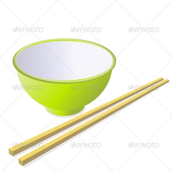 GraphicRiver Ceramic Mug with Wooden Sticks 6575690
