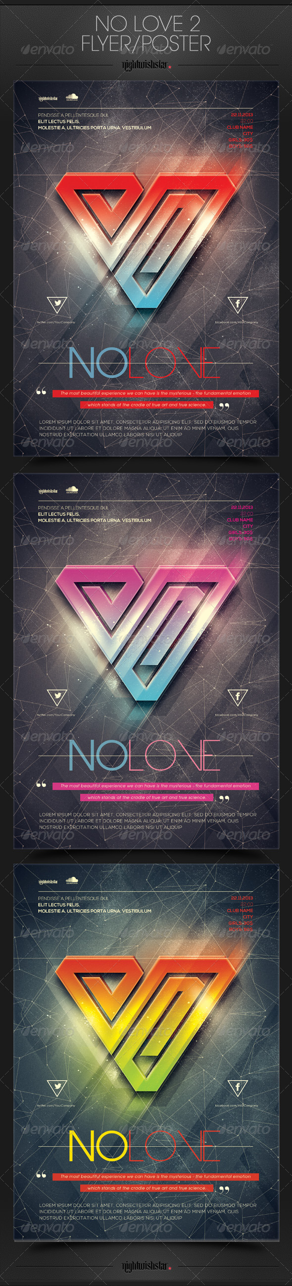 GraphicRiver No Love 2 Poster Flyer 6576405
