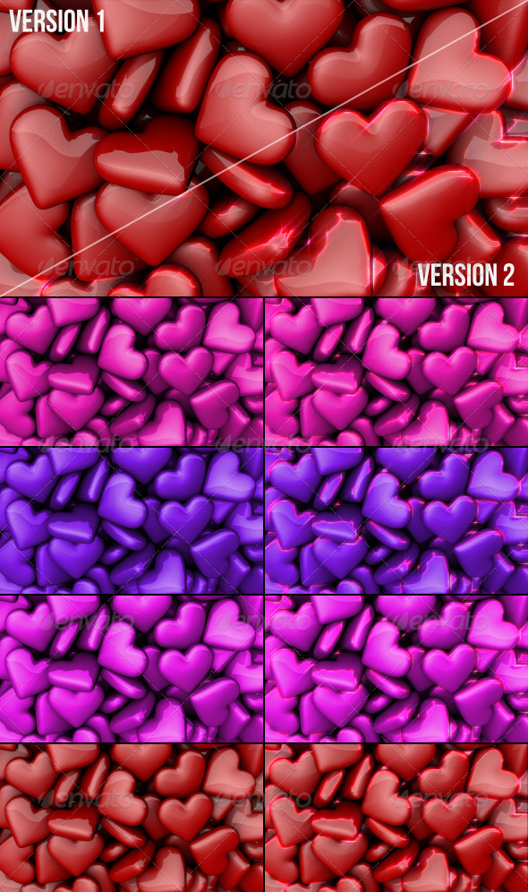 GraphicRiver Hearts Backgrounds 6577126