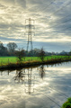 Electricity pylon reflected in water - PhotoDune Item for Sale