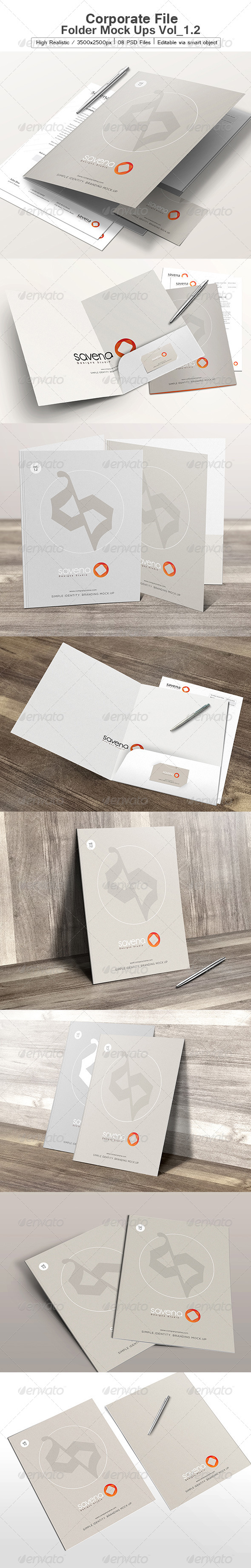 GraphicRiver Corporate File Folder Mock Ups Vol 1.2 6577388