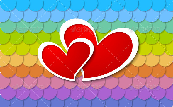 GraphicRiver Two Paper Hearts Design 6577694