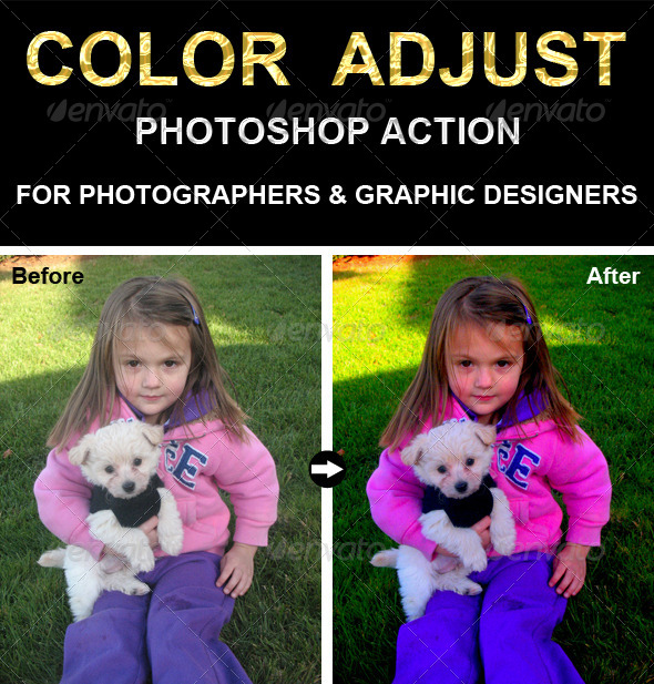 GraphicRiver Adjust Color Photoshop Action 6577696