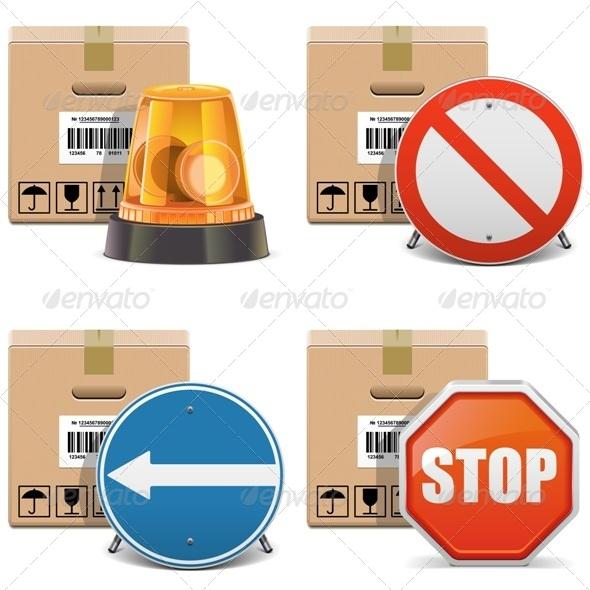 GraphicRiver Shipment Icons Set 24 6578480