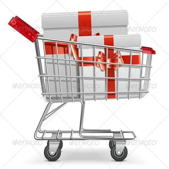 GraphicRiver Supermarket Cart with Gifts 6578499