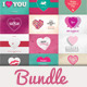 40 Valentine's Day Cards / Backgrounds Bundle - GraphicRiver Item for Sale