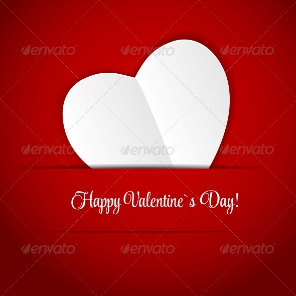 GraphicRiver Happy Valentines Day Card with Heart 6579884