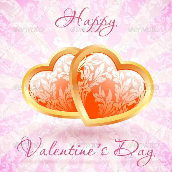GraphicRiver Happy Valentine s Day Floral Card 6579926