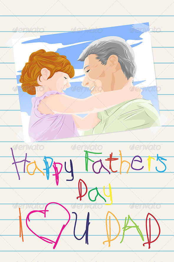 GraphicRiver Fathers Day Card 6580812