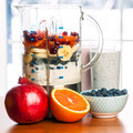 Making smoothies in blender with fruit and yogurt - PhotoDune Item for Sale