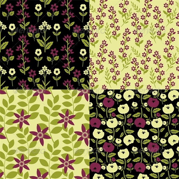 GraphicRiver Floral Patterns 6581477