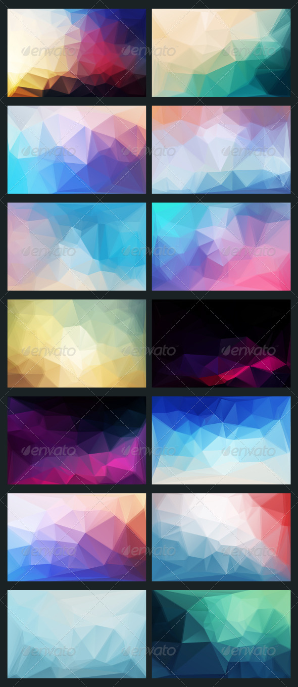 GraphicRiver Vector Abstract Background in Style Flat 6581654
