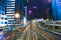 Hong Kong Central business district by night, China - PhotoDune Item for Sale