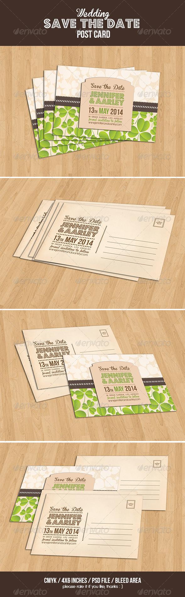 GraphicRiver Wedding Invitation Post Card 6581719