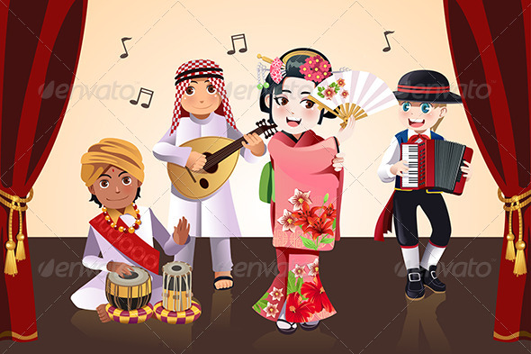 GraphicRiver Kids Performing 6582061