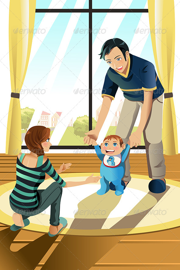 GraphicRiver Parents with Their Baby 6582068