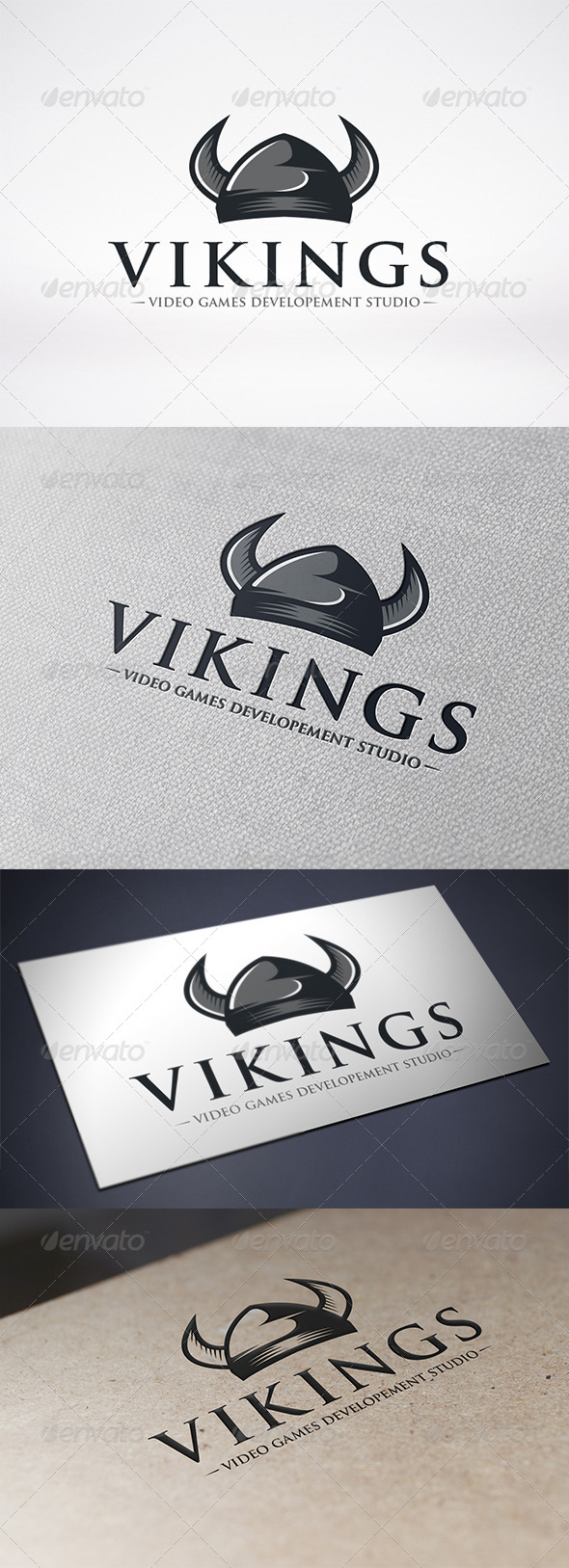 GraphicRiver Viking Helmet Logo Template 6582960