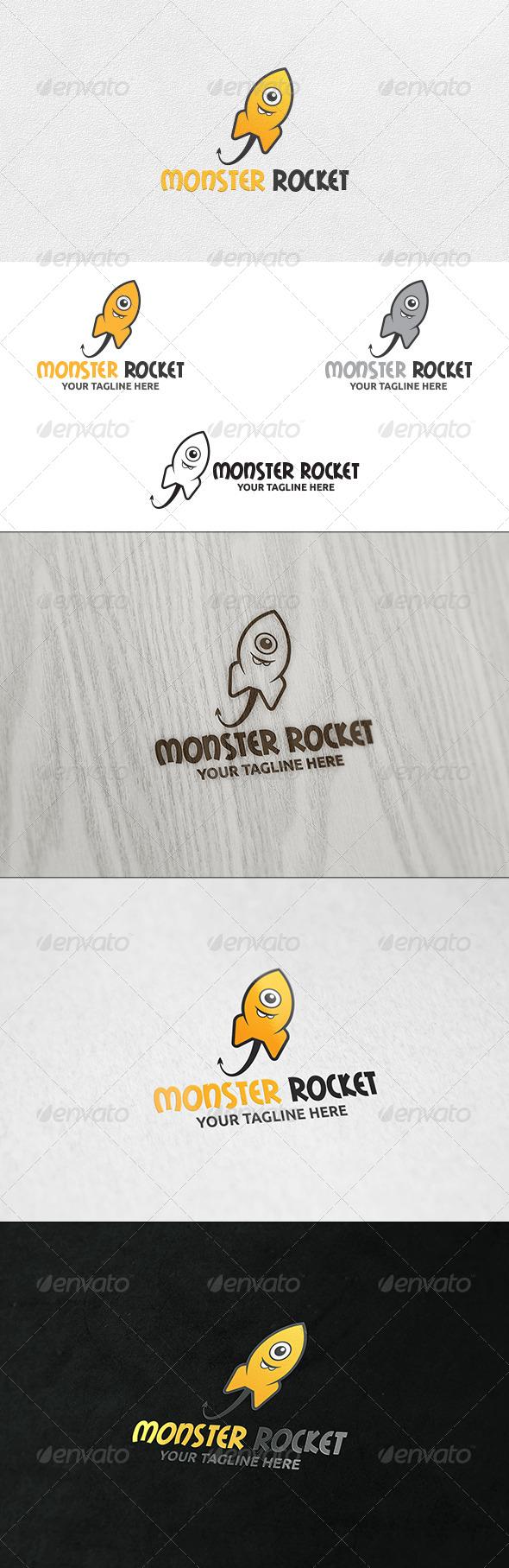 GraphicRiver Monster Rocket Logo Template 6583019