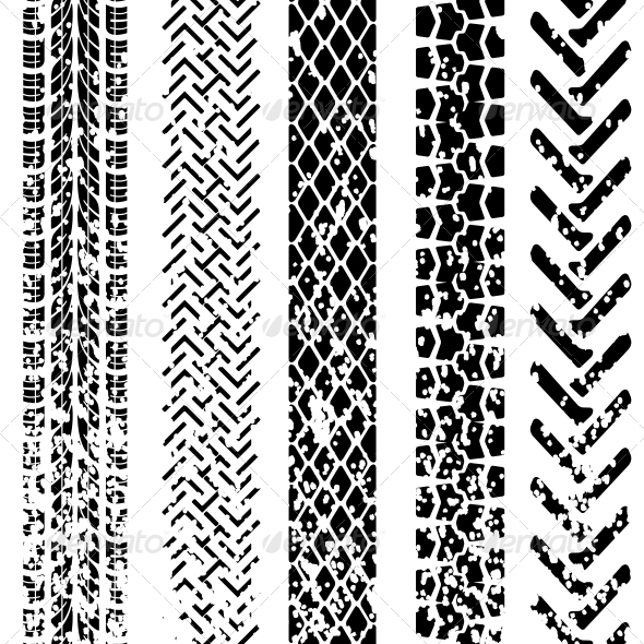 GraphicRiver Set of Detailed Tire Prints Vector Illustration 6583175