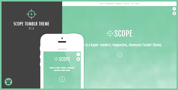 Scope - A Responsive Showcase Tumblr Theme - Portfolio Tumblr