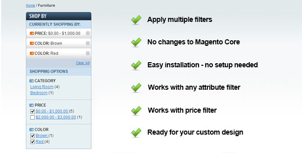 CodeCanyon Magento Checkable Filter Multiple Select 6545424