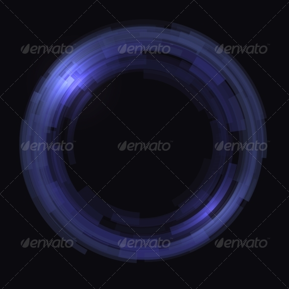 GraphicRiver Abstract Technology Circles Vector Background 6583619