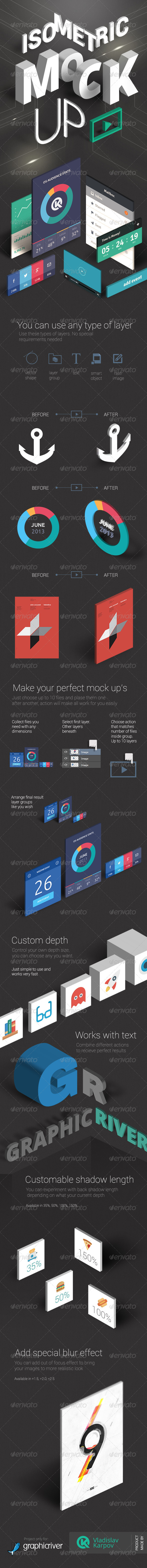 GraphicRiver Isometric Mock-UP Actions vol.2 6583746