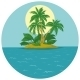Island with Palm and Sun - GraphicRiver Item for Sale