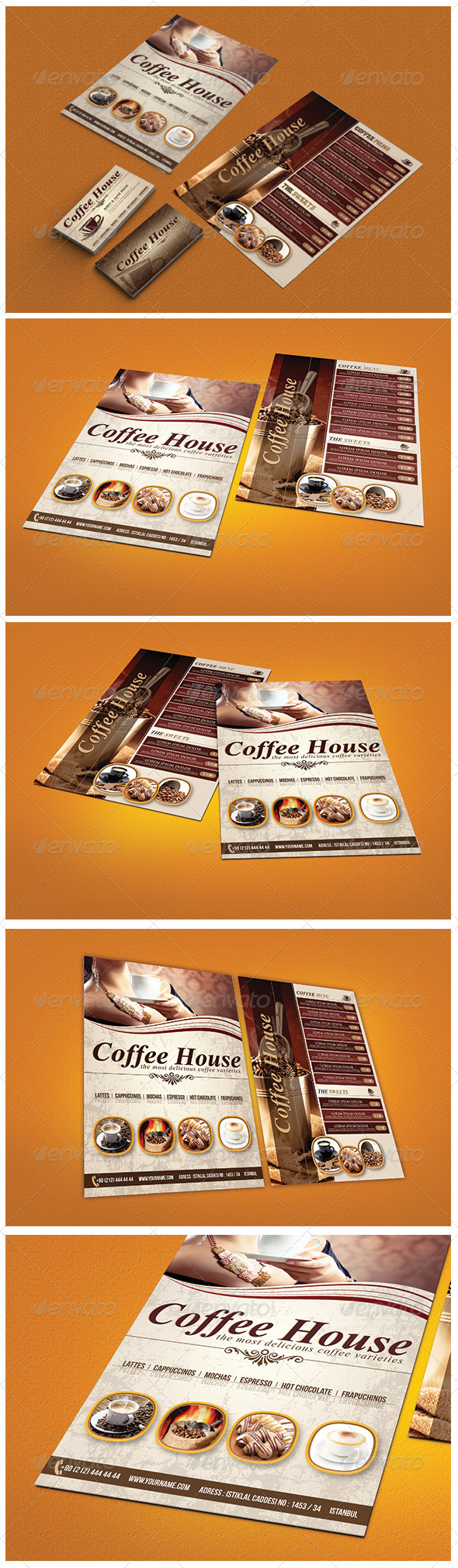 GraphicRiver Cafe Menu Flyer & Business Card 6552032