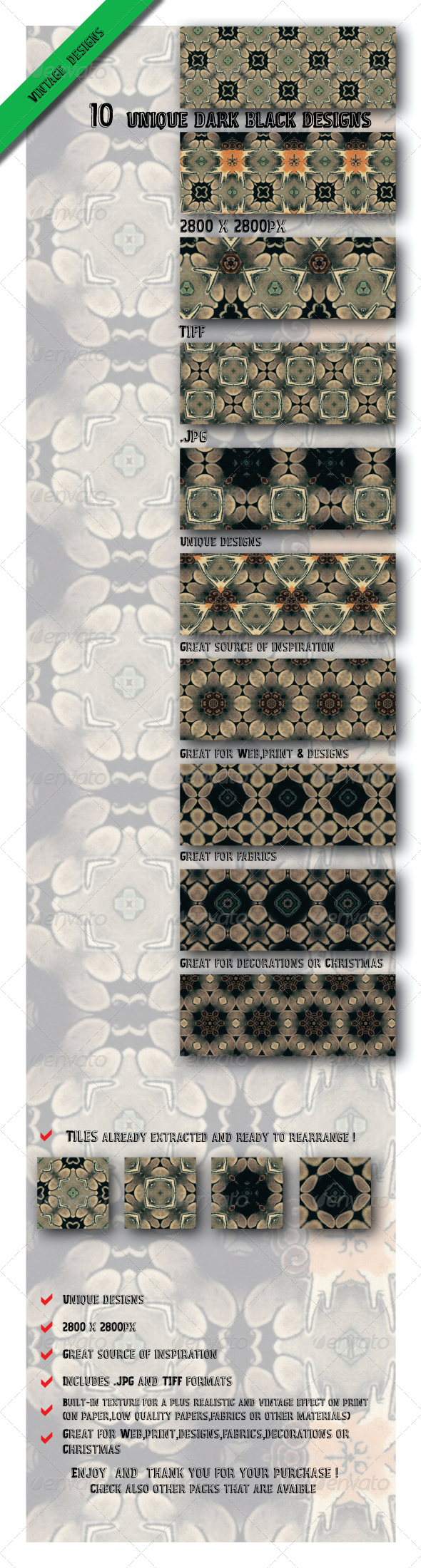 GraphicRiver 10 Unique Dark Black Background Design Patterns 6584506
