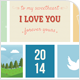 Cute Valentine's and Love Card - GraphicRiver Item for Sale