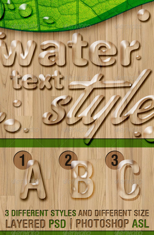 GraphicRiver Water Text Styles 6584963