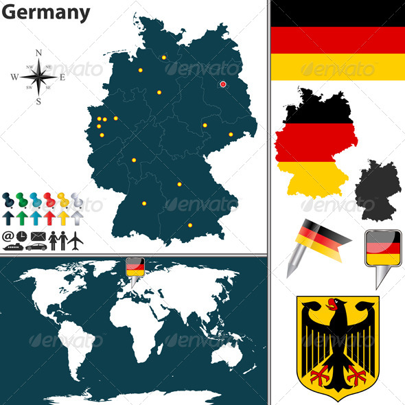 GraphicRiver Map of Germany 6584998