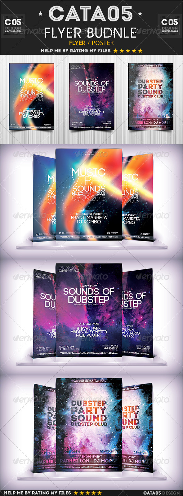 GraphicRiver Flyer Bundle Pack 6 6585270