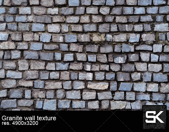GraphicRiver Wall Of Granite Stones 6586001