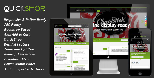 ThemeForest Quickshop Responsive Shopify Theme 6558987