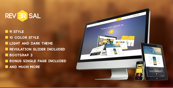 ThemeForest Reversal Parallax One Page HTML Template 6538822